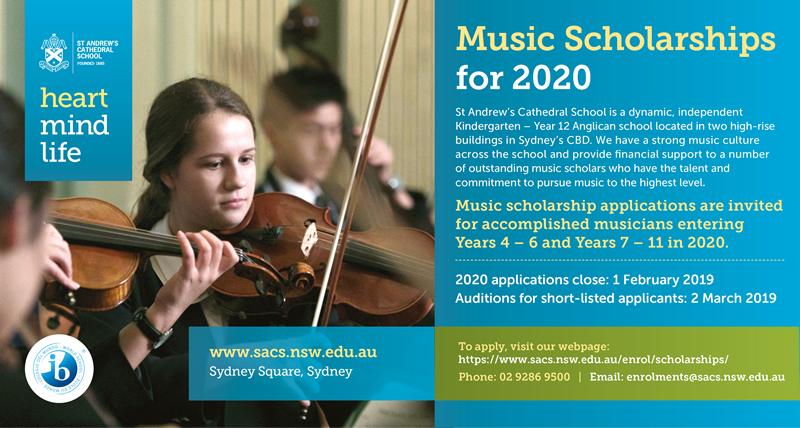Music Scholarships Sydney